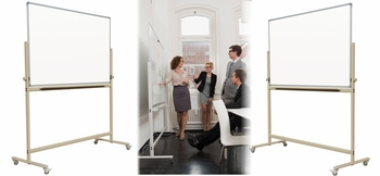 Mobile Reversible Magnetic Whiteboards on Wheels