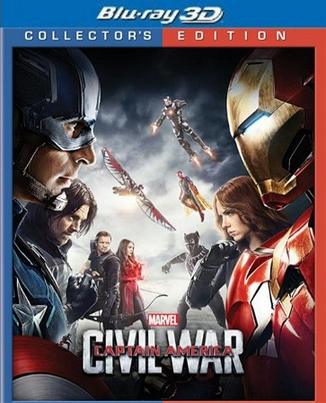 Captain America: Civil War 3D Blu-ray (USED)