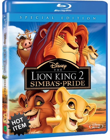 The Lion King 2 Simba's Pride Blu-ray