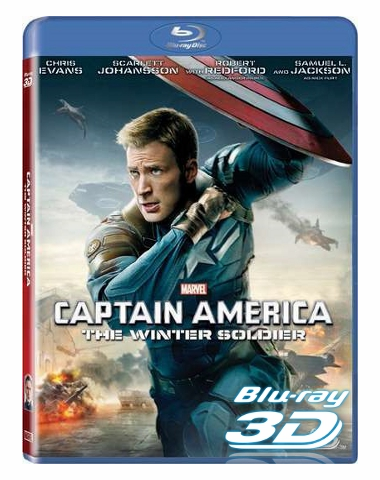 Captain America The Winter Soldier 3D Blu-ray (USED)