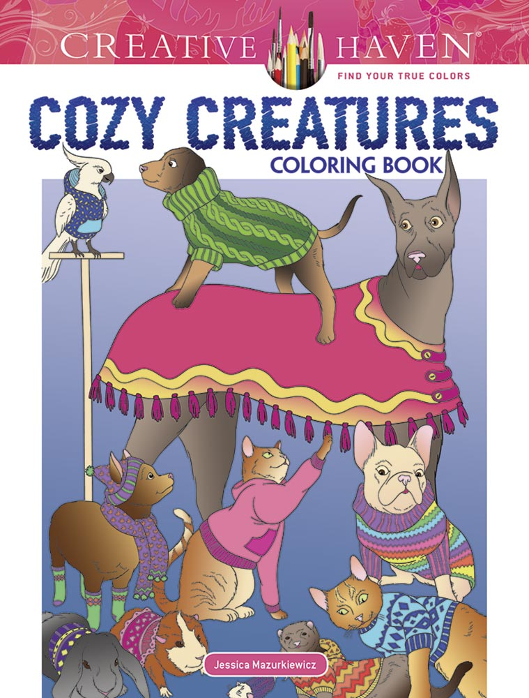 Creative Haven Cozy Creatures Coloring Book