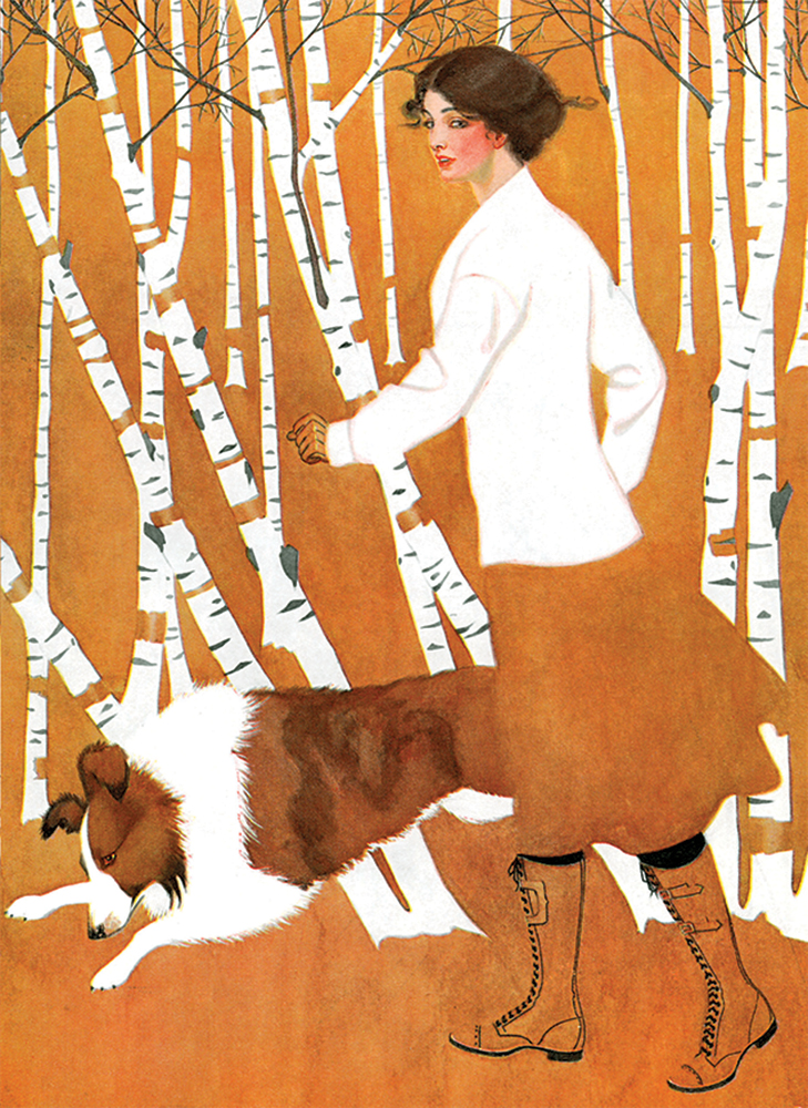Birches Notebook: Cover art from Life Magazine, October 28, 1911