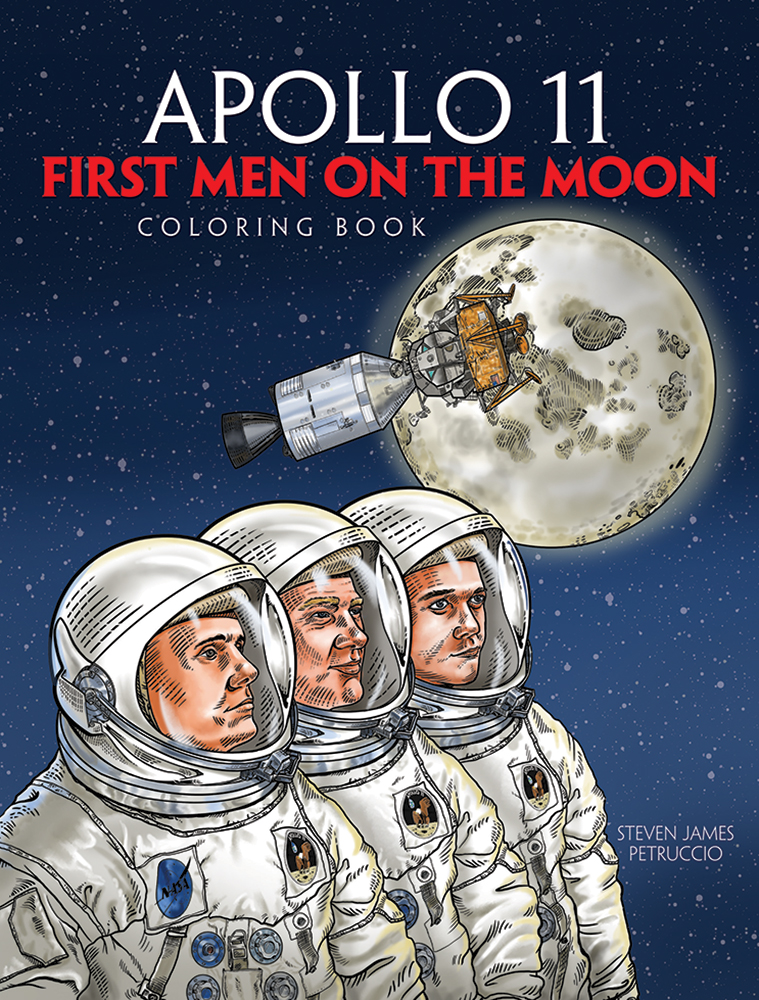 Apollo 11: First Men on the Moon Coloring Book
