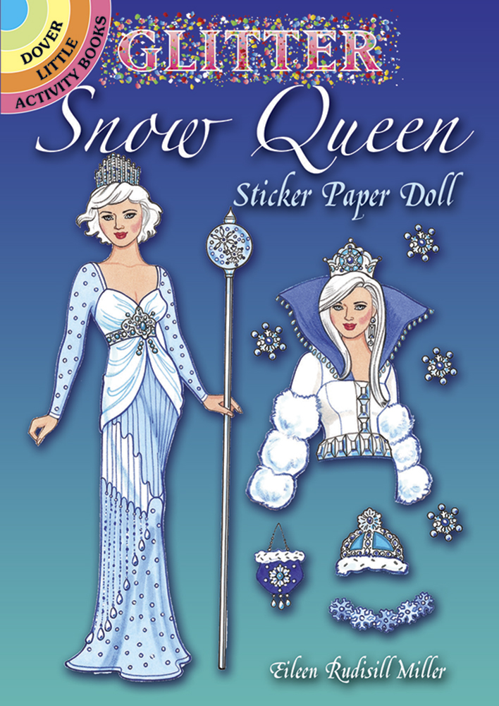 Glitter Snow Queen Sticker Paper Doll