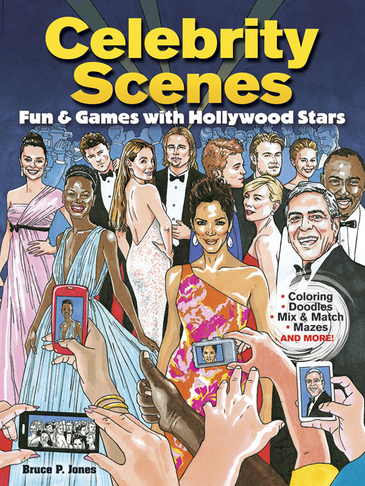 Celebrity Scenes Coloring Book: Fun & Games with Hollywood Stars