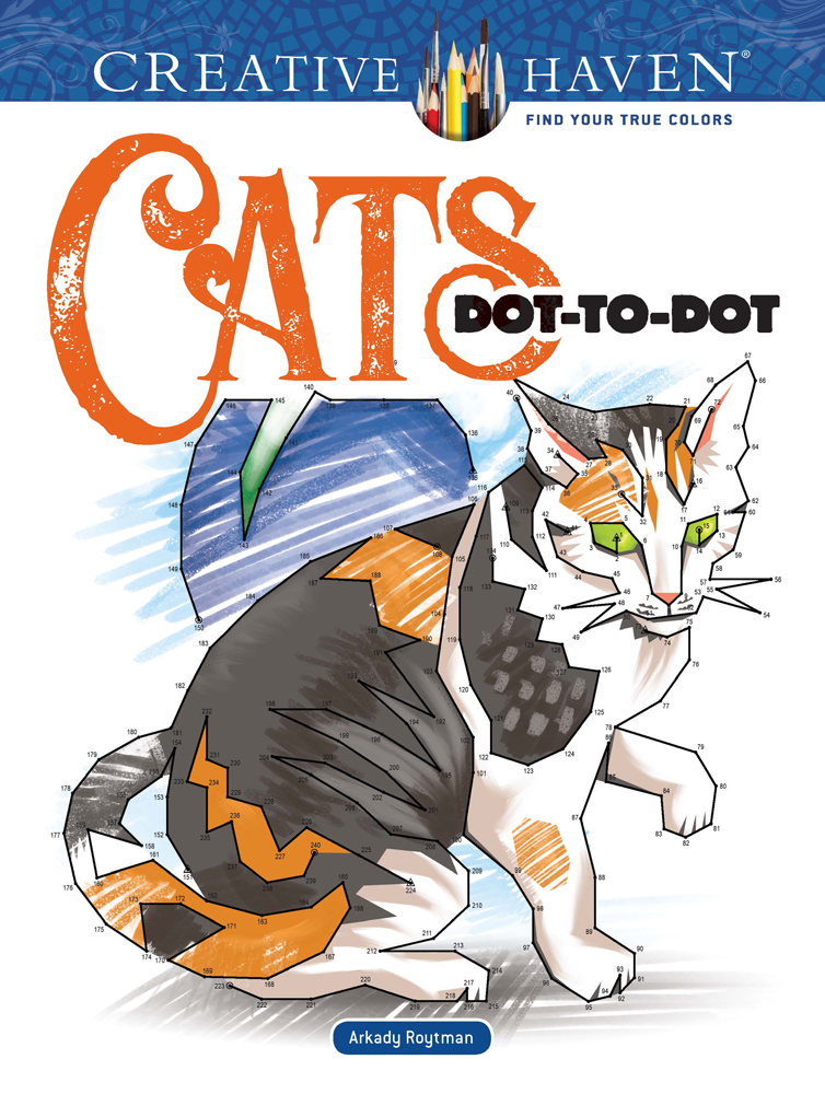 Creative Haven Cats Dot-to-Dot Coloring Book