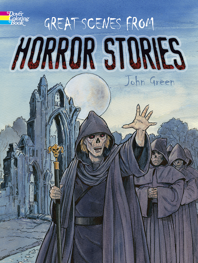 Great Scenes from Horror Stories Coloring Book