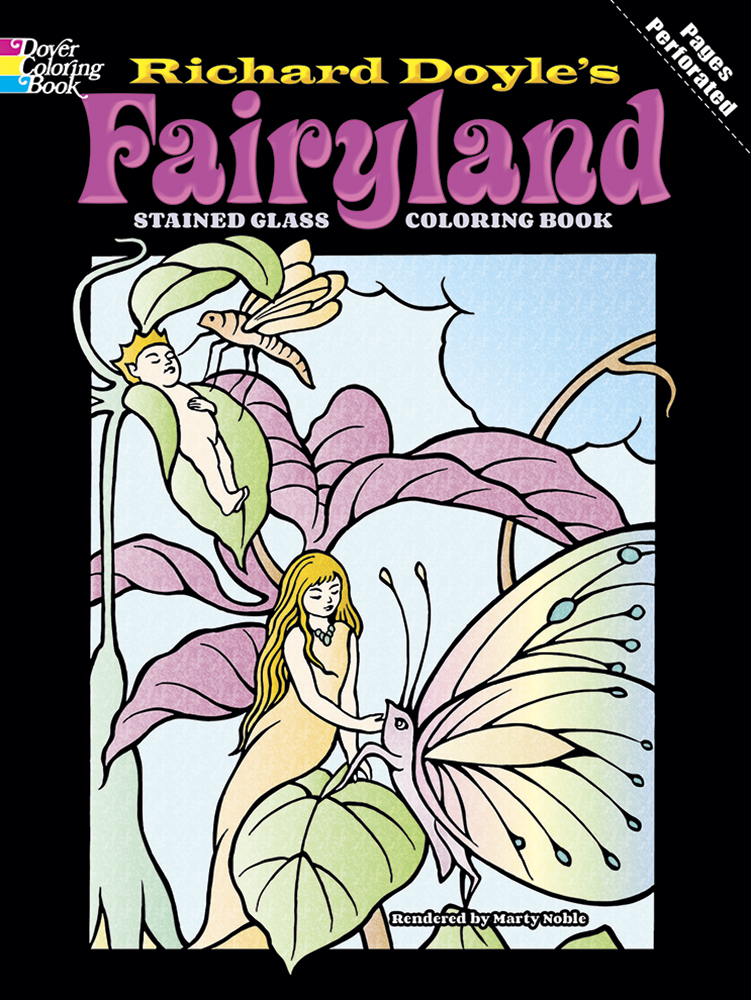 Fairyland Stained Glass Coloring Book