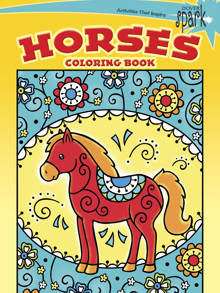 SPARK Horses Coloring Book
