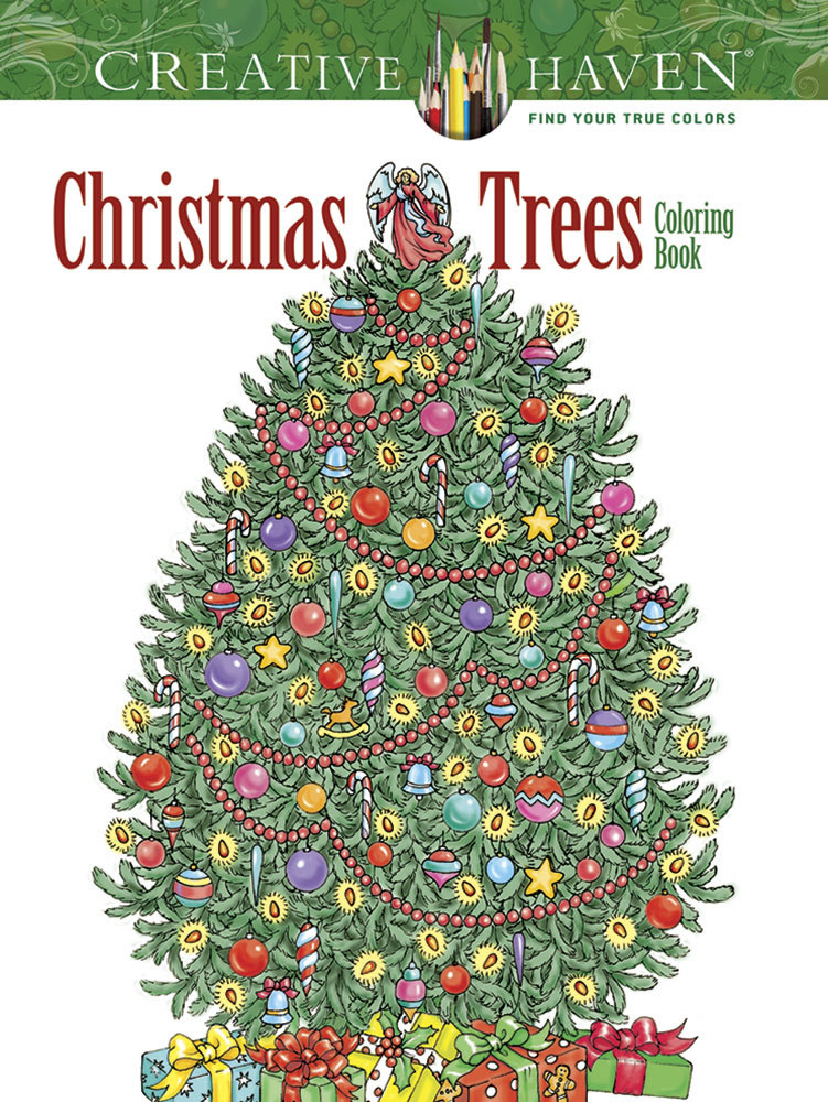 - Creative Haven Christmas Trees Coloring Book