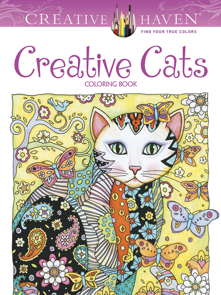 - Creative Haven Creative Cats Coloring Book