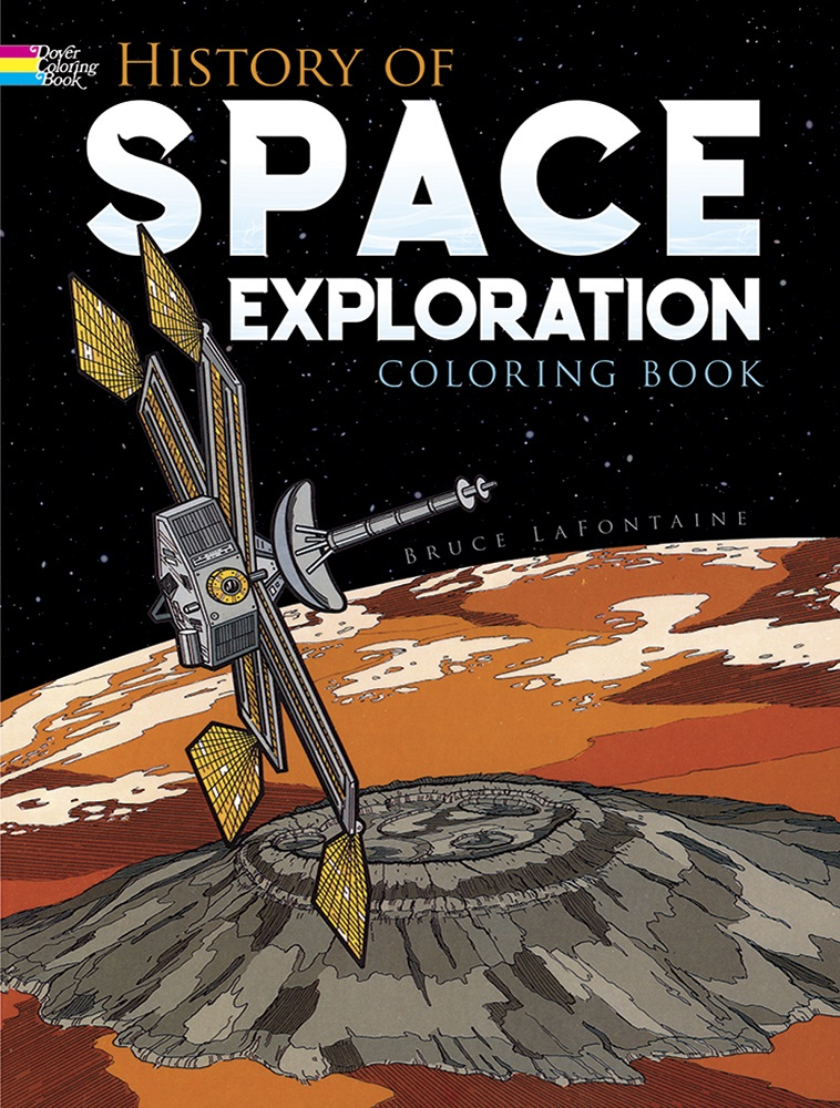 History of Space Exploration Coloring Book