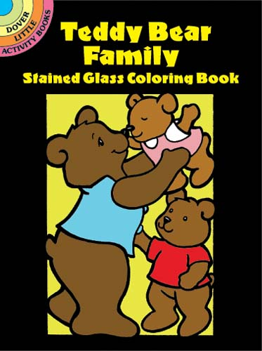 Teddy Bear Family Stained Glass Coloring Book