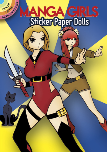 Manga Girls Sticker Paper Dolls