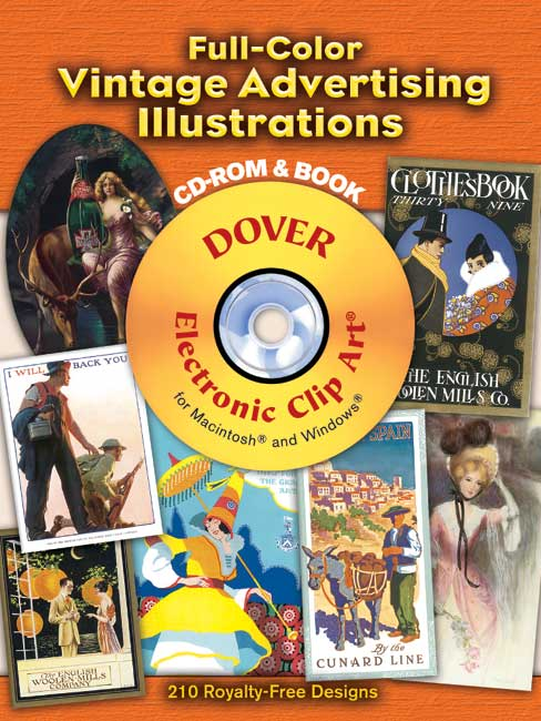 Full-Color Vintage Advertising Illustrations CD-ROM and Book
