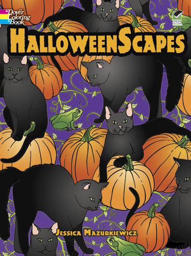 HalloweenScapes Coloring Book