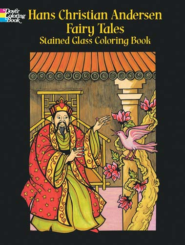 Hans Christian Andersen Fairy Tales Stained Glass Coloring Book