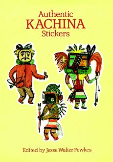 Authentic Kachina Stickers: 22 Full-Color Pressure-Sensitive Designs