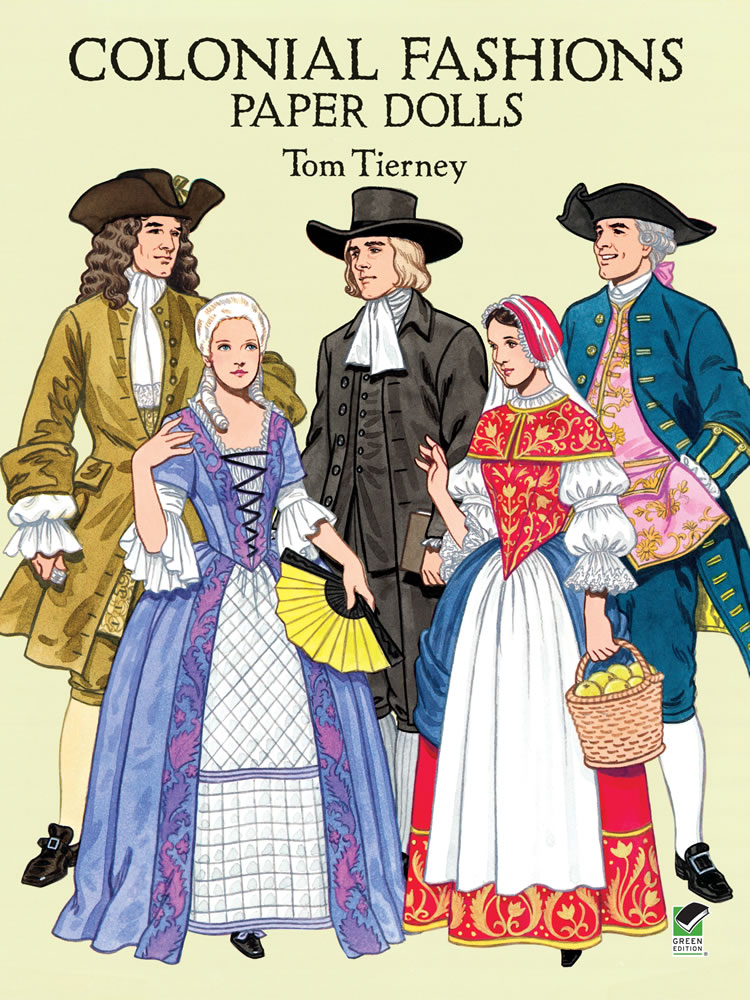 Colonial Fashions Paper Dolls