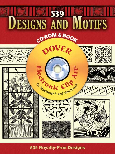 539 Designs and Motifs CD-ROM and Book