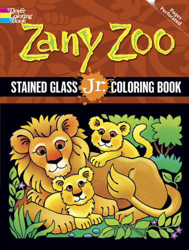Zany Zoo Stained Glass Jr. Coloring Book