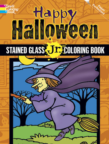 Happy Halloween Stained Glass Jr. Coloring Book