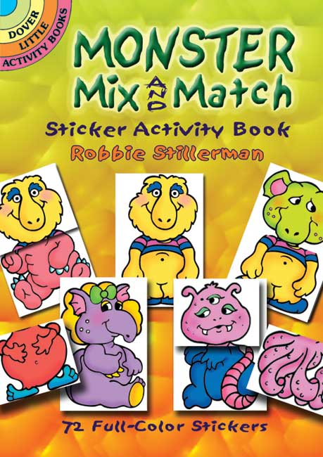 Monster Mix and Match Sticker Activity Book