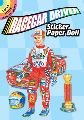 Racecar Driver Sticker Paper Doll