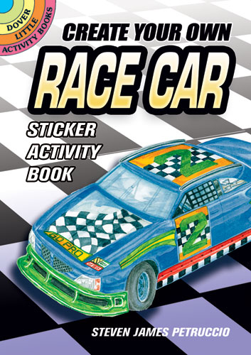 Create Your Own Race Car Sticker Activity Book