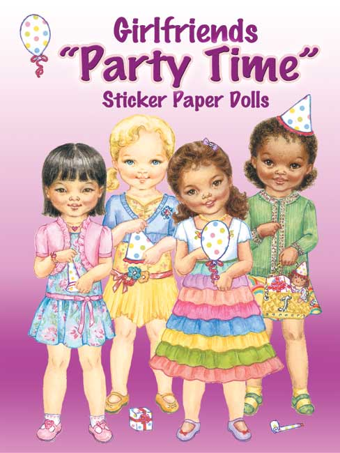 "Girlfriends ""Party Time"" Sticker Paper Dolls"