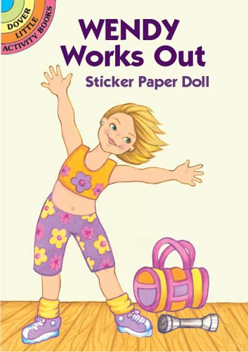 Wendy Works Out Sticker Paper Doll