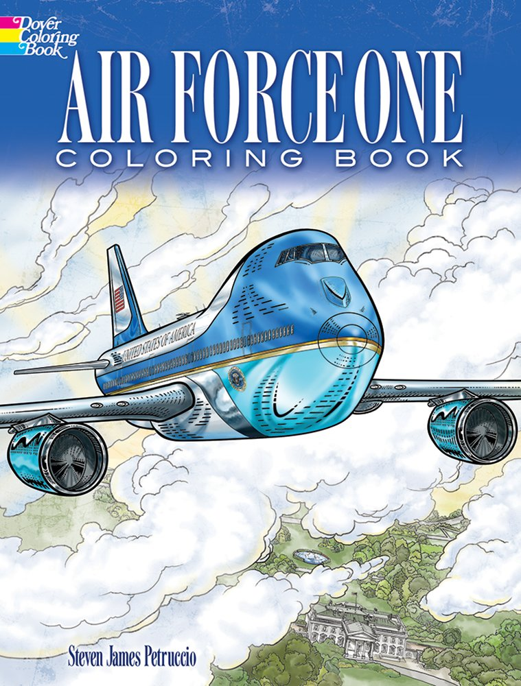 Air Force One Coloring Book: Color realistic illustrations of this famous airplane!