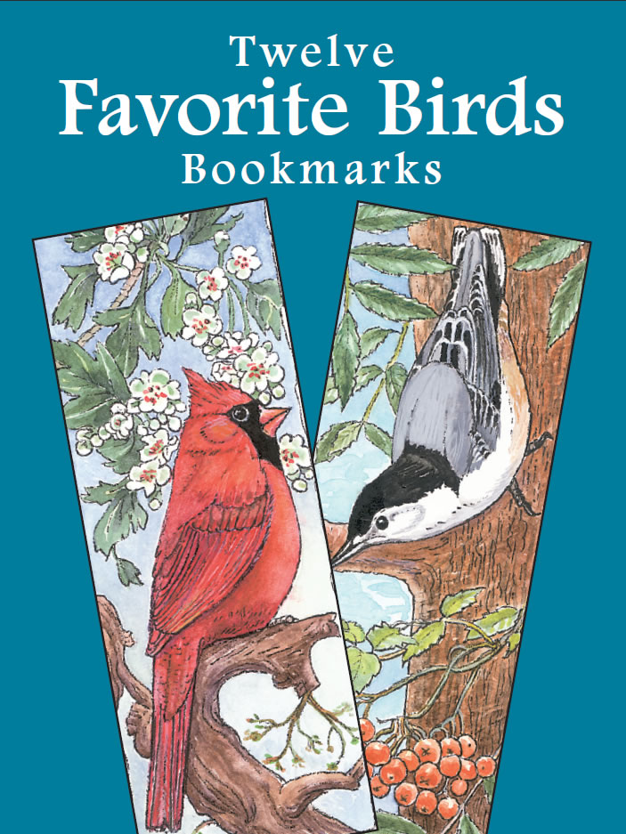 Twelve Favorite Birds Bookmarks