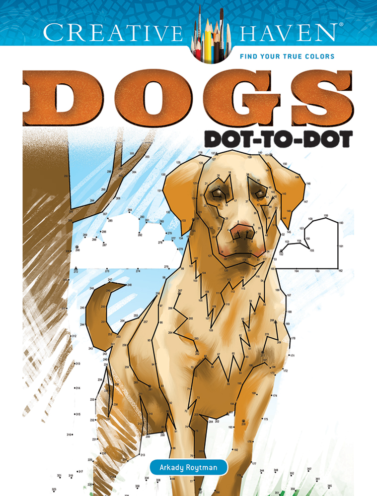 Creative Haven Dogs Dot-to-Dot
