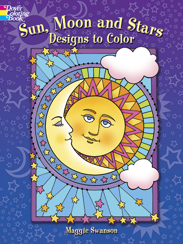 Sun, Moon and Stars Designs to Color