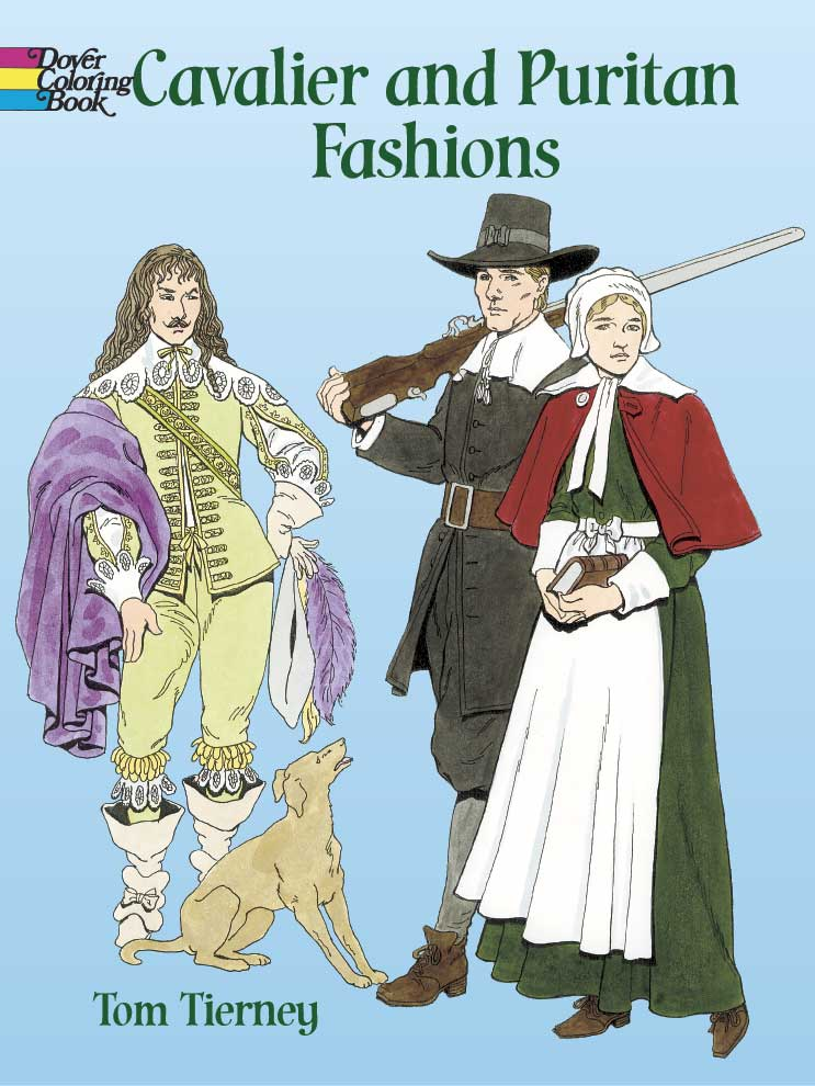 Cavalier and Puritan Fashions Coloring Book