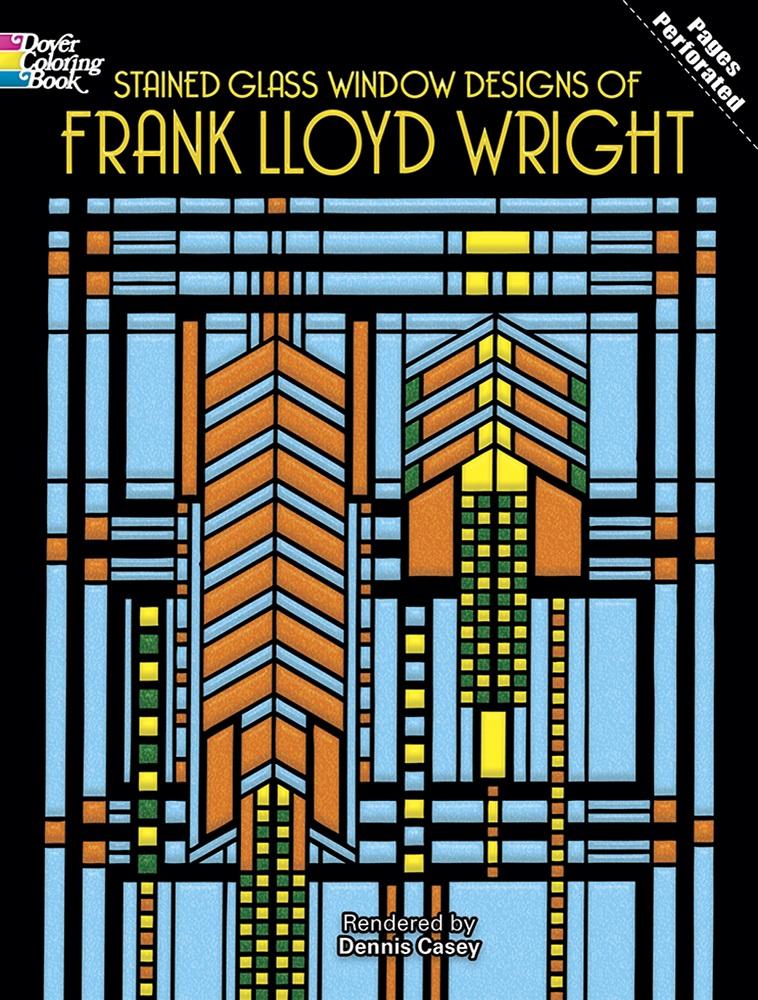 Stained Glass Window Designs of Frank Lloyd Wright Coloring Book