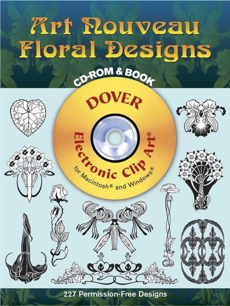 Art Nouveau Floral Designs CD-ROM and Book
