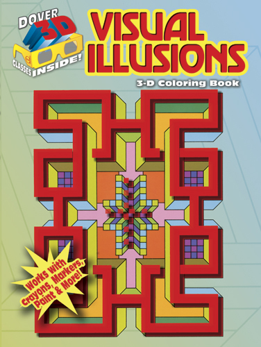 3-D Coloring Book--Visual Illusions