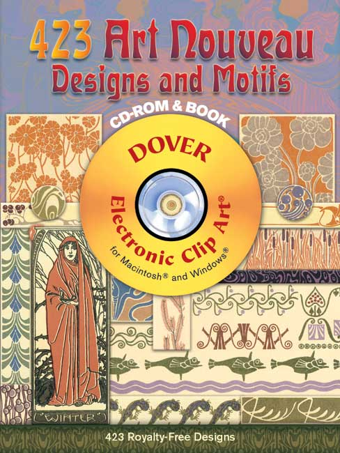 423 Art Nouveau Designs and Motifs CD-ROM and Book