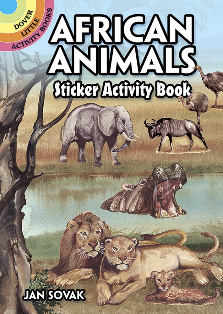 African Animals Sticker Activity Book