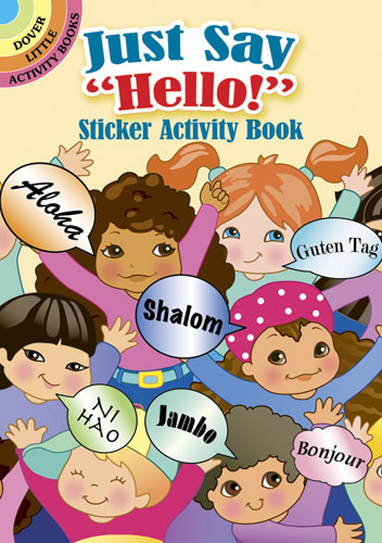 "Just Say ""Hello!"" Sticker Activity Book"