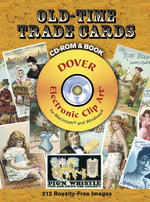 Old-Time Trade Cards CD-ROM and Book