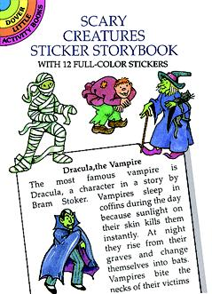 Scary Creatures Sticker Storybook