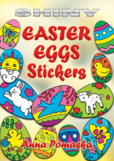 Shiny Easter Eggs Stickers