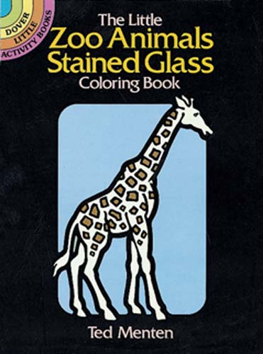 The Little Zoo Animals Stained Glass Coloring Book