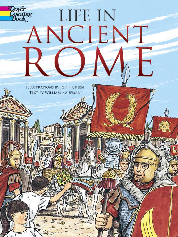 Life in Ancient Rome Coloring Book