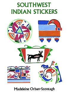 Southwest Indian Stickers: 24 Pressure-Sensitive Designs