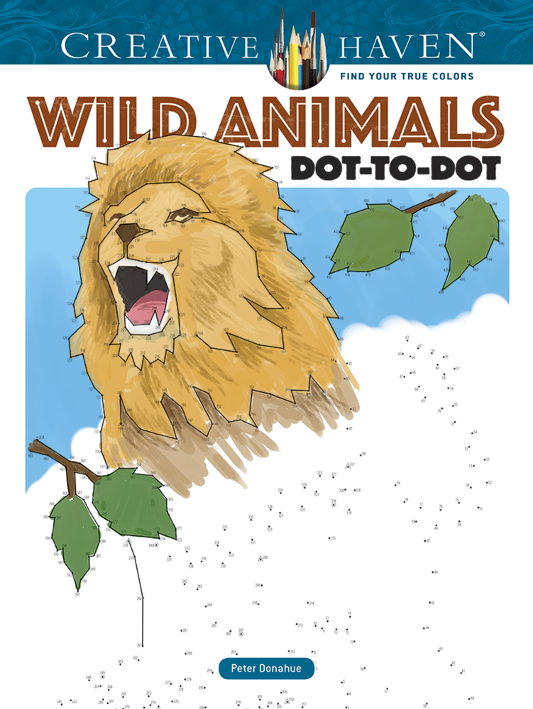 Creative Haven Wild Animals Dot-to-Dot Coloring Book