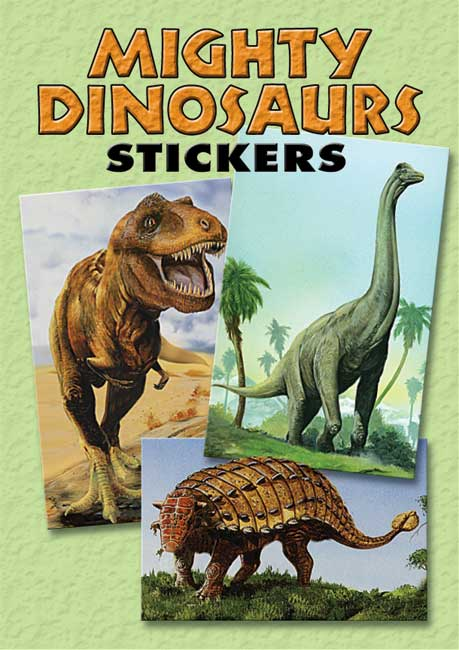 Mighty Dinosaurs Stickers: 36 Stickers, 9 Different Designs